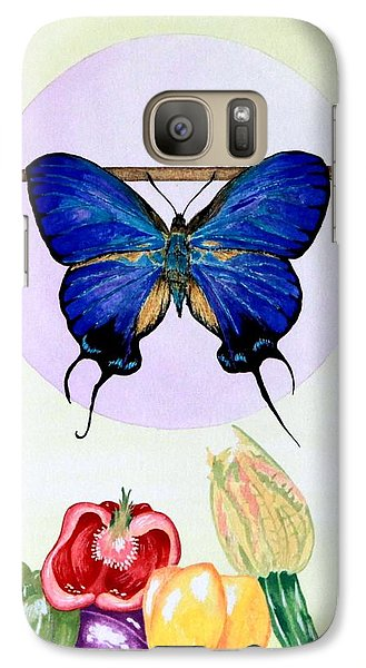 Galaxy Case featuring the painting Still Life With Moth #2 by Thomas Gronowski
