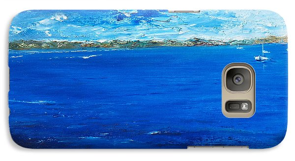 Galaxy Case featuring the painting Storm A Comin by Conor Murphy