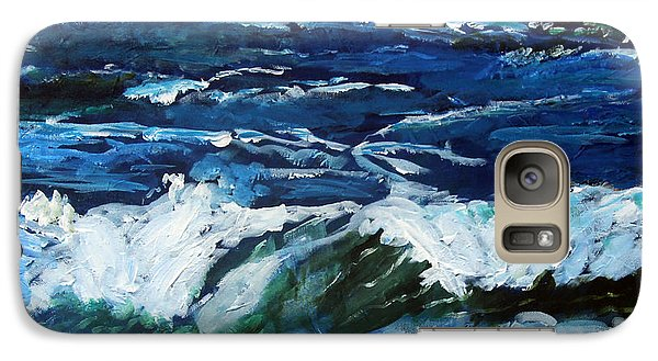 Galaxy Case featuring the painting Storm Tide Or Blowin In The Wind by Michael Helfen