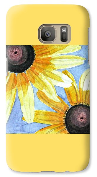 Galaxy Case featuring the painting Summer Susans by Angela Davies
