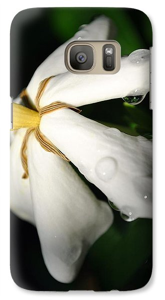 Galaxy Case featuring the photograph Sun Kissed Gardenia by Kelly Nowak