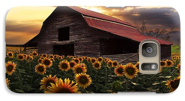 Pasture Galaxy S7 Case - Sunflower Farm by Debra and Dave Vanderlaan