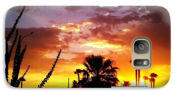 Galaxy Case featuring the photograph Sunrise In Palm Springs by Chris Tarpening