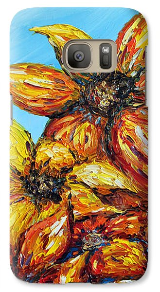 Galaxy Case featuring the painting Sunrise by Meaghan Troup