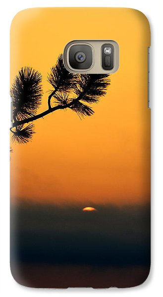 Galaxy Case featuring the photograph Sunset At Yosemite by Rima Biswas