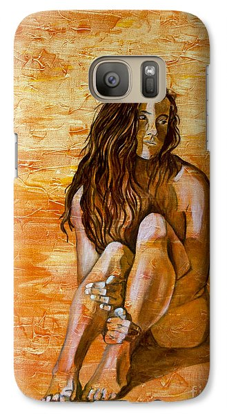 Galaxy Case featuring the painting Sunset by Denise Deiloh