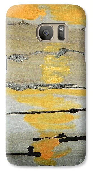 Galaxy Case featuring the painting Sunset by Fereshteh Stoecklein