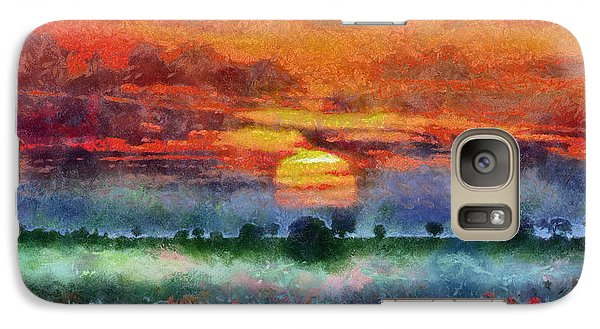 Galaxy Case featuring the painting Sunset by Georgi Dimitrov