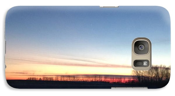 Galaxy Case featuring the photograph Sunset. by Sima Amid Wewetzer