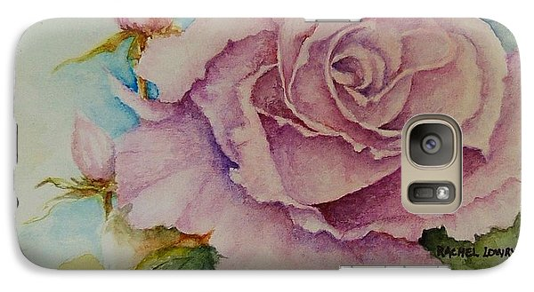 Galaxy Case featuring the painting Susan's Rose by Rachel Lowry