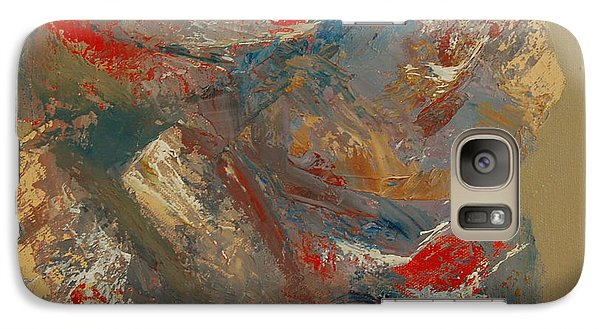 Galaxy Case featuring the painting Syncopation 2 by Mini Arora