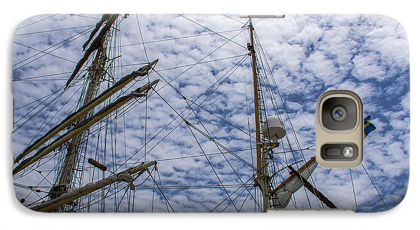 Galaxy Case featuring the photograph Tall Ship Mast by Dale Powell