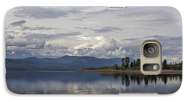 Galaxy Case featuring the photograph Teslin Lake  by Inge Riis McDonald
