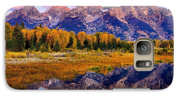Galaxy Case featuring the photograph Tetons Reflection by Aaron Whittemore