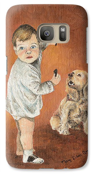 Galaxy Case featuring the painting The Guilty Ones by Mary Ellen Anderson