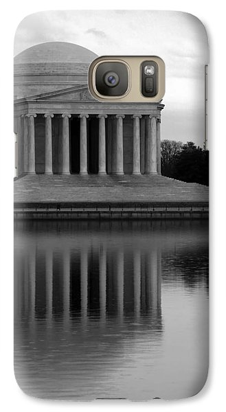 Galaxy Case featuring the photograph The Jefferson Memorial by Cora Wandel