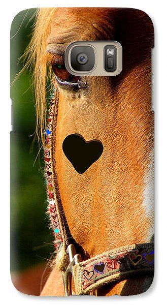 Galaxy Case featuring the photograph The Love Of A Horse by France Laliberte