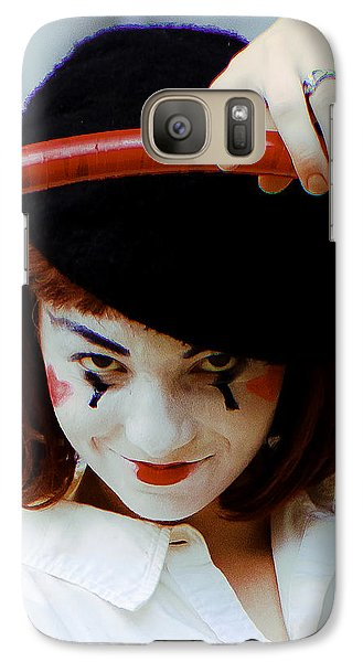 Galaxy Case featuring the photograph The Mime by Michael Nowotny