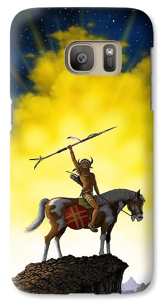 Galaxy Case featuring the digital art The Signal by Scott Ross