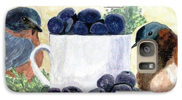 Galaxy Case featuring the painting The Temptation Of Blueberries by Angela Davies