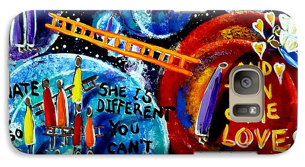 Galaxy Case featuring the painting Then Came Love by Jackie Carpenter