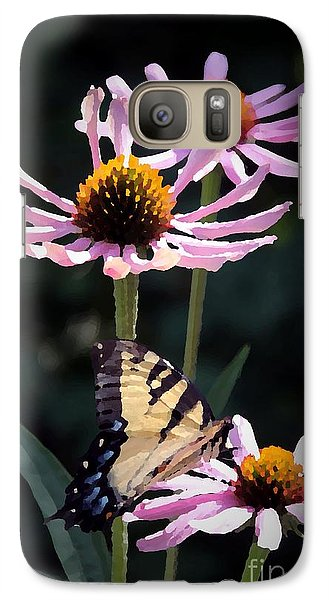 Galaxy Case featuring the photograph Tiger Swallowtail by Yumi Johnson