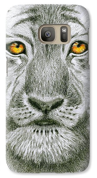 Galaxy Case featuring the painting Tiger Tiger Burning Bright by Jo Appleby