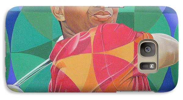 Galaxy Case featuring the drawing Tiger Woods by Joshua Morton