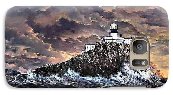 Galaxy Case featuring the painting Tillamook Rock Light by Lynne Wright