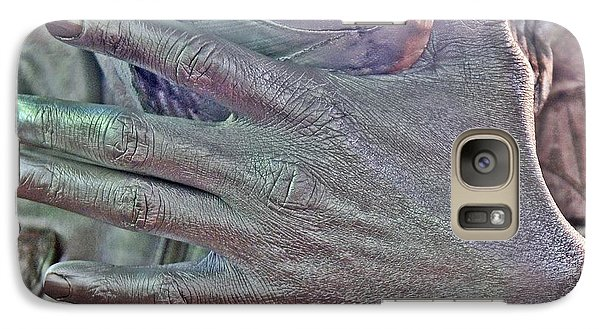 Galaxy Case featuring the photograph Tin Man Hand by Lilliana Mendez