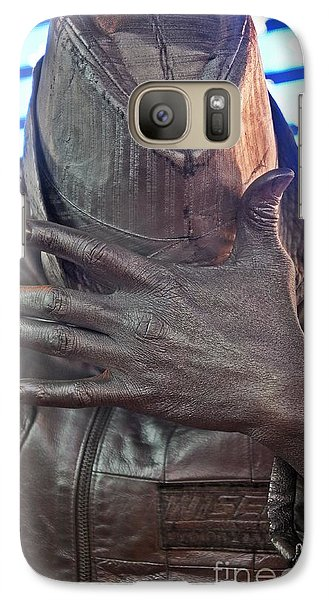 Galaxy Case featuring the photograph Tin Man In Times Square by Lilliana Mendez