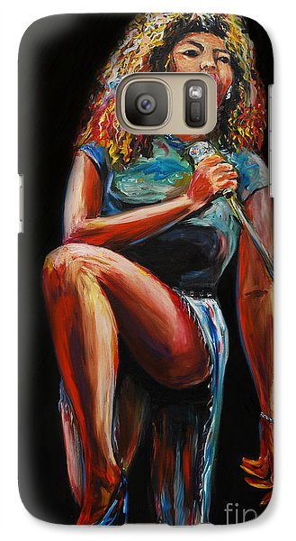 Galaxy Case featuring the painting Tina Turner by Nancy Bradley