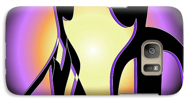 Galaxy Case featuring the digital art Together Forever by Iris Gelbart