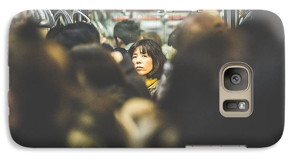 Tokyo Japan Train Woman Galaxy Case by Cory Dewald
