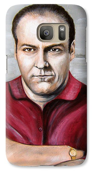 Galaxy Case featuring the painting Tony Soprano by Patrice Torrillo