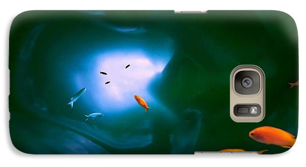 Galaxy Case featuring the mixed media Tropical Sea Cave by Steed Edwards