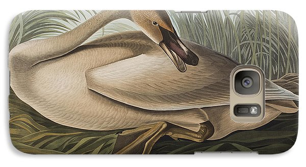 Trumpeter Swan Galaxy Case by John James Audubon