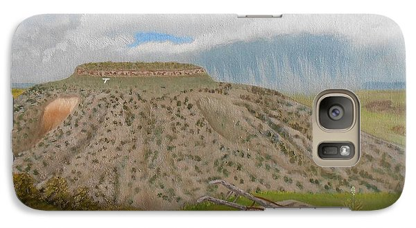 Galaxy Case featuring the painting Tucumcari Mountain Reflections On Route 66 by Sheri Keith