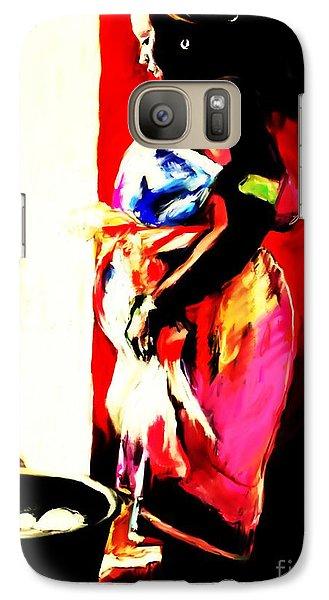Galaxy Case featuring the painting Ugunda Fish Lady by Vannetta Ferguson