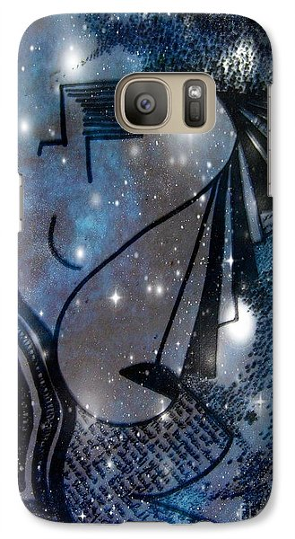 Galaxy Case featuring the mixed media Universal Feminine by Leanne Seymour