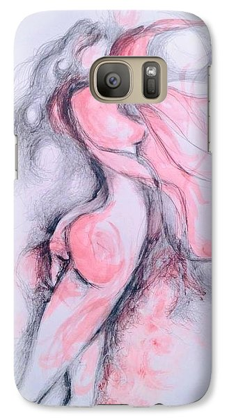Galaxy Case featuring the drawing Untitled by Marat Essex