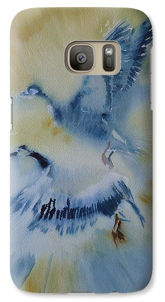 Galaxy Case featuring the painting Up And Away by Lori Ippolito