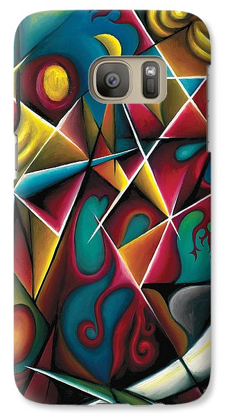 Galaxy Case featuring the painting Upwards Through The Brambles by Tiffany Davis-Rustam