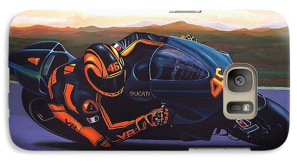 Goat Galaxy S7 Case - Valentino Rossi On Ducati by Paul Meijering
