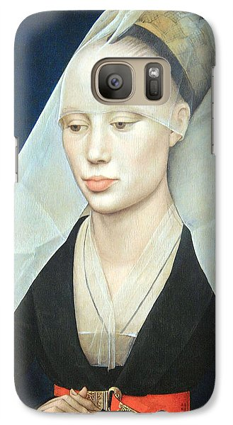 Galaxy Case featuring the photograph Van Der Weyden's Portrait Of A Lady by Cora Wandel