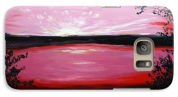 Galaxy Case featuring the painting Vanquished by Meaghan Troup