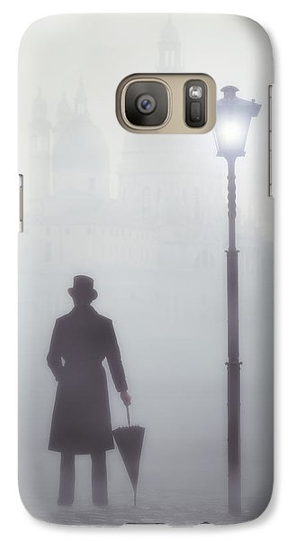 Victorian Man Galaxy Case by Joana Kruse