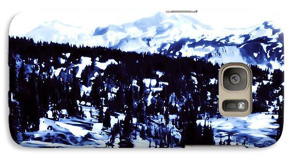 Galaxy Case featuring the photograph Vintage Mount Rainier Forest Early 1900 Era... by Eddie Eastwood