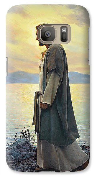 Galaxy Case featuring the painting Walk With Me  by Greg Olsen
