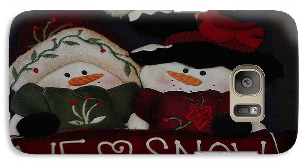 Galaxy Case featuring the photograph We Love Snow by Ivete Basso Photography